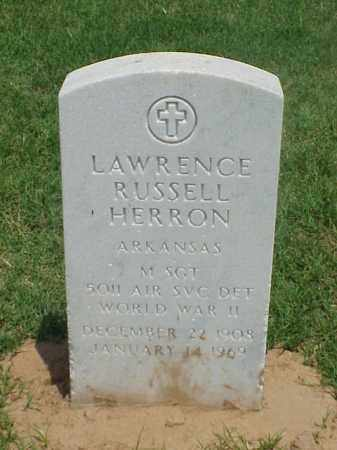 HERRON (VETERAN WWII), LAWRENCE RUSSELL - Pulaski County, Arkansas | LAWRENCE RUSSELL HERRON (VETERAN WWII) - Arkansas Gravestone Photos