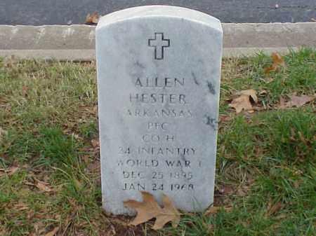 HESTER  (VETERAN WWI), ALLEN - Pulaski County, Arkansas | ALLEN HESTER  (VETERAN WWI) - Arkansas Gravestone Photos