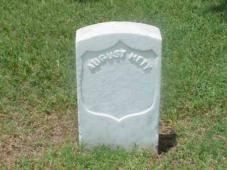 HETY (VETERAN UNION), AUGUST - Pulaski County, Arkansas | AUGUST HETY (VETERAN UNION) - Arkansas Gravestone Photos