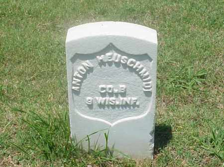 HEUSCHMIDT (VETERAN UNION), ANTON - Pulaski County, Arkansas | ANTON HEUSCHMIDT (VETERAN UNION) - Arkansas Gravestone Photos