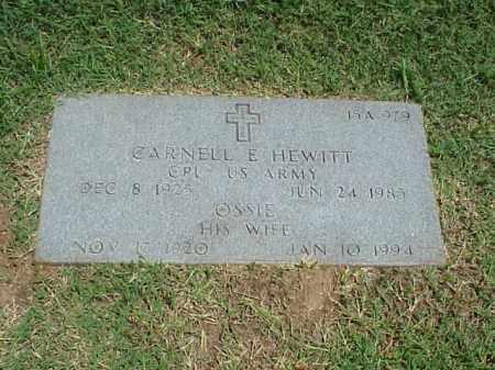 HEWITT (VETERAN WWII), CARNELL E - Pulaski County, Arkansas | CARNELL E HEWITT (VETERAN WWII) - Arkansas Gravestone Photos