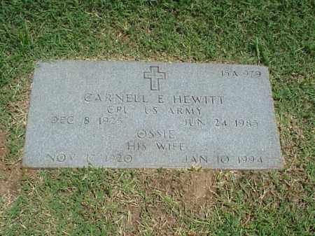 HEWITT, OSSIE - Pulaski County, Arkansas | OSSIE HEWITT - Arkansas Gravestone Photos