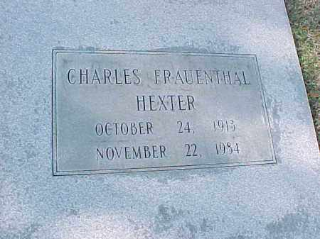 HEXTER, CHARLES FRAUENTHAL - Pulaski County, Arkansas | CHARLES FRAUENTHAL HEXTER - Arkansas Gravestone Photos