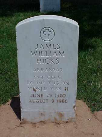 HICK (VETERAN WWII), JAMES WILLIAM - Pulaski County, Arkansas | JAMES WILLIAM HICK (VETERAN WWII) - Arkansas Gravestone Photos