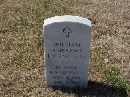 HICKMAN, SR (VETERAN WWII), WILLIAM AMBREWS - Pulaski County, Arkansas | WILLIAM AMBREWS HICKMAN, SR (VETERAN WWII) - Arkansas Gravestone Photos