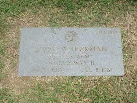 HICKMAN (VETERAN WWII), JESSIE W - Pulaski County, Arkansas | JESSIE W HICKMAN (VETERAN WWII) - Arkansas Gravestone Photos