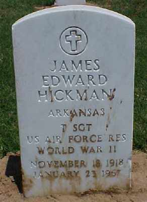 HICKMAN (VETERAN WWII), JAMES EDWARD - Pulaski County, Arkansas | JAMES EDWARD HICKMAN (VETERAN WWII) - Arkansas Gravestone Photos