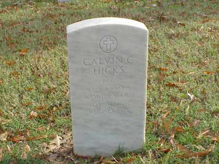 HICKS  (VETERAN WWI), CALVIN C - Pulaski County, Arkansas | CALVIN C HICKS  (VETERAN WWI) - Arkansas Gravestone Photos