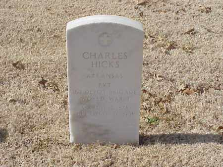 HICKS  (VETERAN WWI), CHARLES - Pulaski County, Arkansas | CHARLES HICKS  (VETERAN WWI) - Arkansas Gravestone Photos