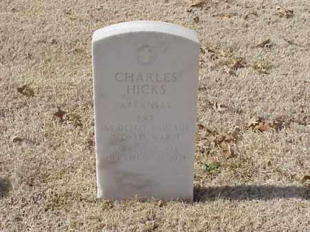 HICKS  (VETERAN WWI), CHARLES - Pulaski County, Arkansas | CHARLES HICKS  (VETERAN WWI) - Arkansas Gravestone Photos