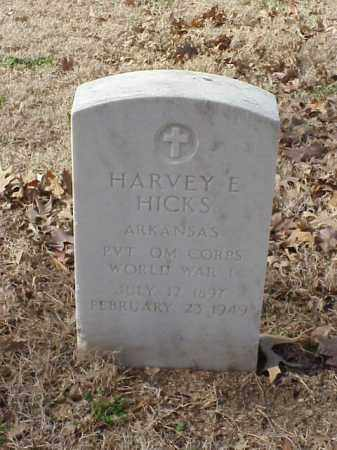 HICKS  (VETERAN WWI), HARVEY E - Pulaski County, Arkansas | HARVEY E HICKS  (VETERAN WWI) - Arkansas Gravestone Photos