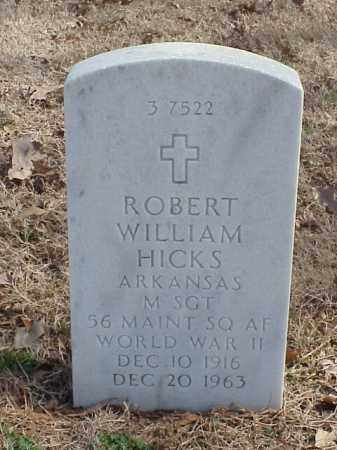 HICKS  (VETERAN WWII), ROBERT WILLIAM - Pulaski County, Arkansas | ROBERT WILLIAM HICKS  (VETERAN WWII) - Arkansas Gravestone Photos