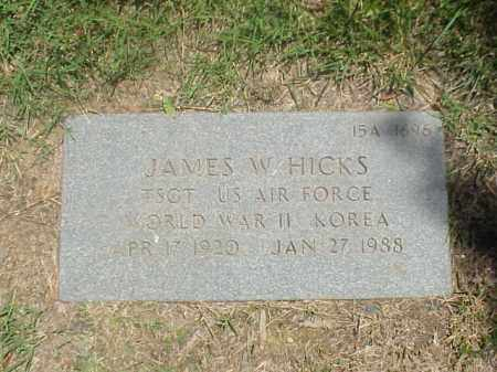 HICKS (VETERAN 2 WARS), JAMES W - Pulaski County, Arkansas | JAMES W HICKS (VETERAN 2 WARS) - Arkansas Gravestone Photos
