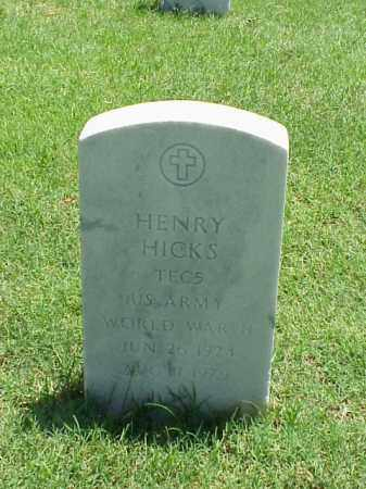 HICKS (VETERAN WWII), HENRY - Pulaski County, Arkansas | HENRY HICKS (VETERAN WWII) - Arkansas Gravestone Photos