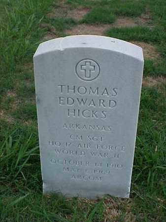HICKS (VETERAN WWII), THOMAS EDWARD - Pulaski County, Arkansas | THOMAS EDWARD HICKS (VETERAN WWII) - Arkansas Gravestone Photos