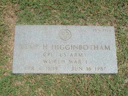 HIGGINBOTHAM (VETERAN WWI), KEMP H - Pulaski County, Arkansas | KEMP H HIGGINBOTHAM (VETERAN WWI) - Arkansas Gravestone Photos