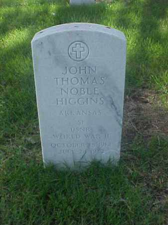 HIGGINS (VETERAN WWII), JOHN THOMAS NOBLE - Pulaski County, Arkansas | JOHN THOMAS NOBLE HIGGINS (VETERAN WWII) - Arkansas Gravestone Photos