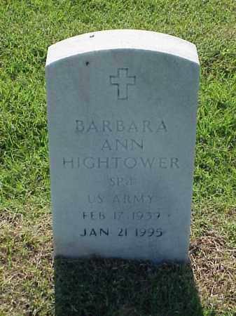 HIGHTOWER (VETERAN), BARBARA ANN - Pulaski County, Arkansas | BARBARA ANN HIGHTOWER (VETERAN) - Arkansas Gravestone Photos