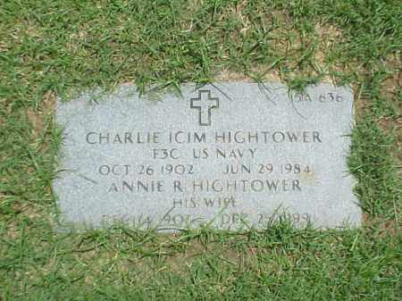 HIGHTOWER (VETERAN WWI), CHARLIE ICIM - Pulaski County, Arkansas | CHARLIE ICIM HIGHTOWER (VETERAN WWI) - Arkansas Gravestone Photos