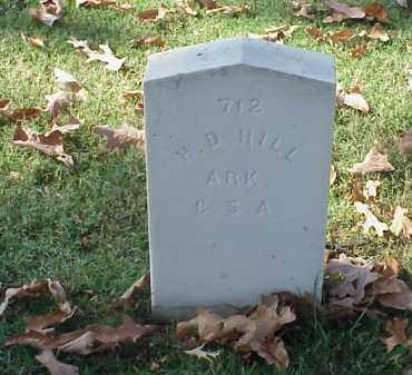 HILL  (VETERAN CSA), H D - Pulaski County, Arkansas | H D HILL  (VETERAN CSA) - Arkansas Gravestone Photos