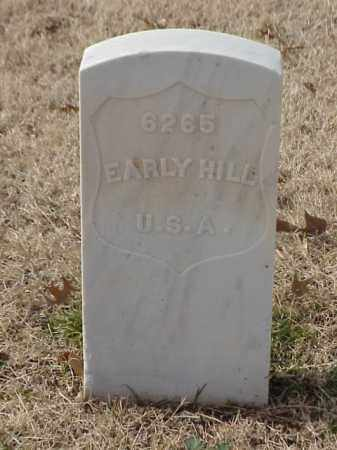 HILL  (VETERAN WWI), EARLY - Pulaski County, Arkansas | EARLY HILL  (VETERAN WWI) - Arkansas Gravestone Photos