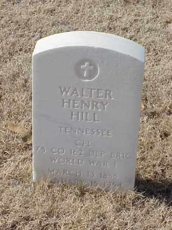 HILL  (VETERAN WWI), WALTER HENRY - Pulaski County, Arkansas | WALTER HENRY HILL  (VETERAN WWI) - Arkansas Gravestone Photos