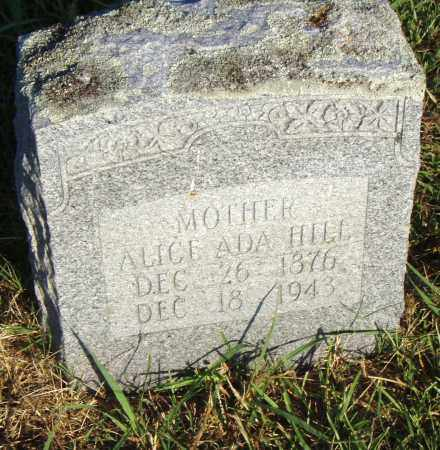 HILL, ALICE ADA - Pulaski County, Arkansas | ALICE ADA HILL - Arkansas Gravestone Photos