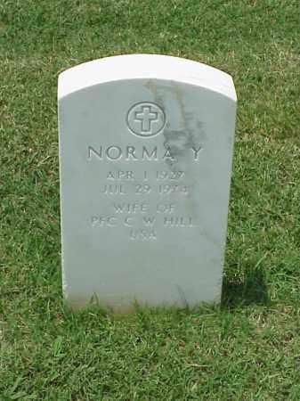 HILL, NORMA YVONNE - Pulaski County, Arkansas | NORMA YVONNE HILL - Arkansas Gravestone Photos