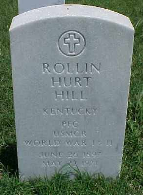 HILL (VETERAN 2 WARS), ROLLIN HURT - Pulaski County, Arkansas | ROLLIN HURT HILL (VETERAN 2 WARS) - Arkansas Gravestone Photos