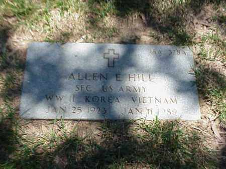 HILL (VETERAN 3 WARS), ALLEN E - Pulaski County, Arkansas | ALLEN E HILL (VETERAN 3 WARS) - Arkansas Gravestone Photos