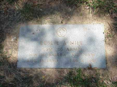 HILL (VETERAN 3 WARS), LESLIE ALVIN - Pulaski County, Arkansas | LESLIE ALVIN HILL (VETERAN 3 WARS) - Arkansas Gravestone Photos