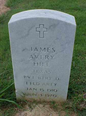 HILL (VETERAN), JAMES AVERY - Pulaski County, Arkansas | JAMES AVERY HILL (VETERAN) - Arkansas Gravestone Photos