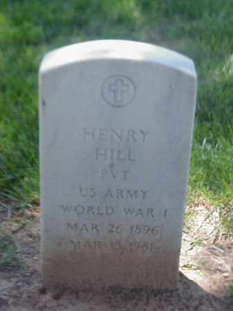 HILL (VETERAN WWI), HENRY - Pulaski County, Arkansas | HENRY HILL (VETERAN WWI) - Arkansas Gravestone Photos