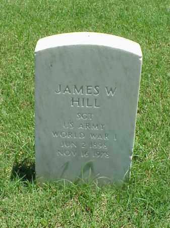 HILL (VETERAN WWI), JAMES W - Pulaski County, Arkansas | JAMES W HILL (VETERAN WWI) - Arkansas Gravestone Photos