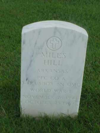 HILL (VETERAN WWI), MILES - Pulaski County, Arkansas | MILES HILL (VETERAN WWI) - Arkansas Gravestone Photos