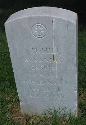 HILL (VETERAN WWII), J D - Pulaski County, Arkansas | J D HILL (VETERAN WWII) - Arkansas Gravestone Photos