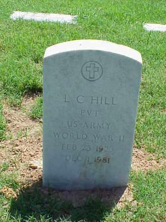 HILL (VETERAN WWII), L C - Pulaski County, Arkansas | L C HILL (VETERAN WWII) - Arkansas Gravestone Photos