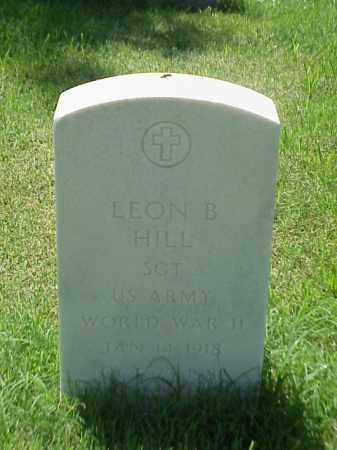 HILL (VETERAN WWII), LEON B - Pulaski County, Arkansas | LEON B HILL (VETERAN WWII) - Arkansas Gravestone Photos