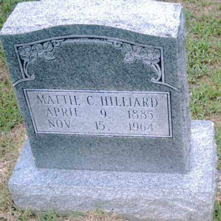 HILLIARD, MATTIE C. - Pulaski County, Arkansas | MATTIE C. HILLIARD - Arkansas Gravestone Photos