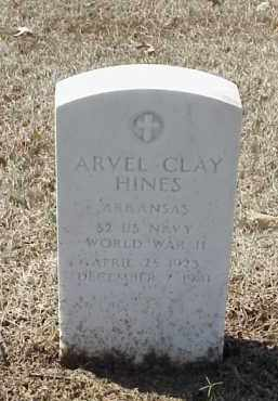 HINES  (VETERAN WWII), ARVEL CLAY - Pulaski County, Arkansas | ARVEL CLAY HINES  (VETERAN WWII) - Arkansas Gravestone Photos