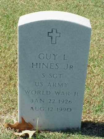 HINES, JR  (VETERAN WWII), GUY L - Pulaski County, Arkansas | GUY L HINES, JR  (VETERAN WWII) - Arkansas Gravestone Photos