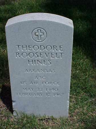 HINES (VETERAN), THEODORE ROOSEVELT - Pulaski County, Arkansas | THEODORE ROOSEVELT HINES (VETERAN) - Arkansas Gravestone Photos