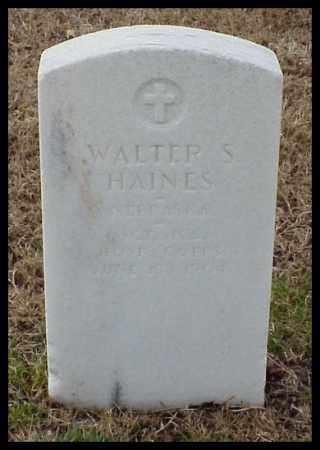 HAINES (VETERAN), WALTER S - Pulaski County, Arkansas | WALTER S HAINES (VETERAN) - Arkansas Gravestone Photos