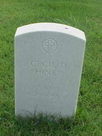 HINES (VETERAN WWI), CECIL D - Pulaski County, Arkansas | CECIL D HINES (VETERAN WWI) - Arkansas Gravestone Photos