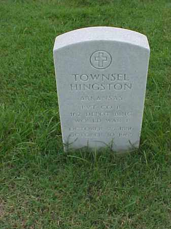 HINGSTON (VETERAN WWI), TOWNSEL - Pulaski County, Arkansas | TOWNSEL HINGSTON (VETERAN WWI) - Arkansas Gravestone Photos