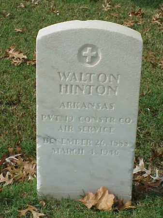 HINTON  (VETERAN WWI), WALTON - Pulaski County, Arkansas | WALTON HINTON  (VETERAN WWI) - Arkansas Gravestone Photos
