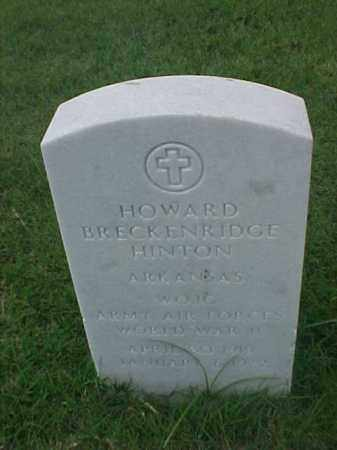 HINTON (VETERAN WWII), HOWARD BRECKENRIDGE - Pulaski County, Arkansas | HOWARD BRECKENRIDGE HINTON (VETERAN WWII) - Arkansas Gravestone Photos
