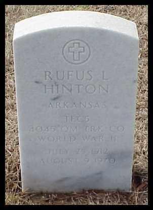 HINTON (VETERAN WWII), RUFUS LAFAYETTE - Pulaski County, Arkansas | RUFUS LAFAYETTE HINTON (VETERAN WWII) - Arkansas Gravestone Photos