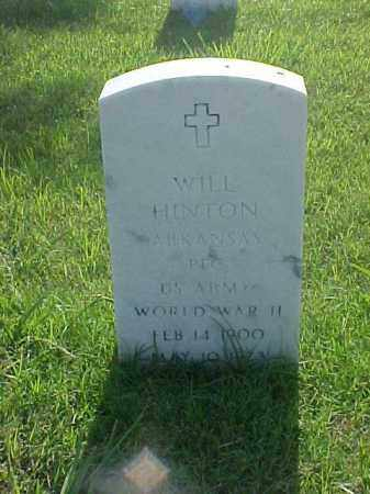 HINTON (VETERAN WWII), WILL - Pulaski County, Arkansas | WILL HINTON (VETERAN WWII) - Arkansas Gravestone Photos