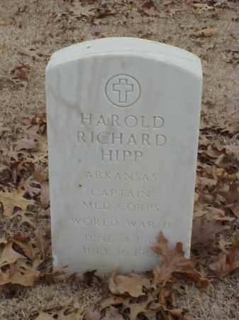 HIPP (VETERAN WWII), HAROLD RICHARD - Pulaski County, Arkansas | HAROLD RICHARD HIPP (VETERAN WWII) - Arkansas Gravestone Photos